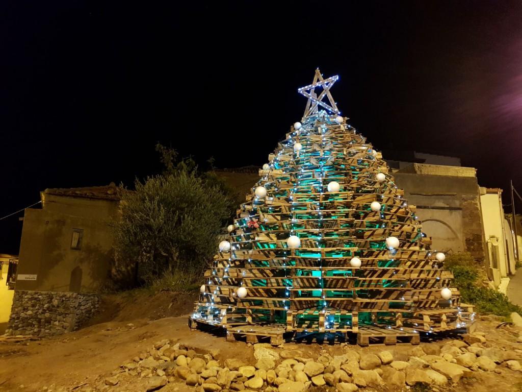 albero di natale pedane piale serale